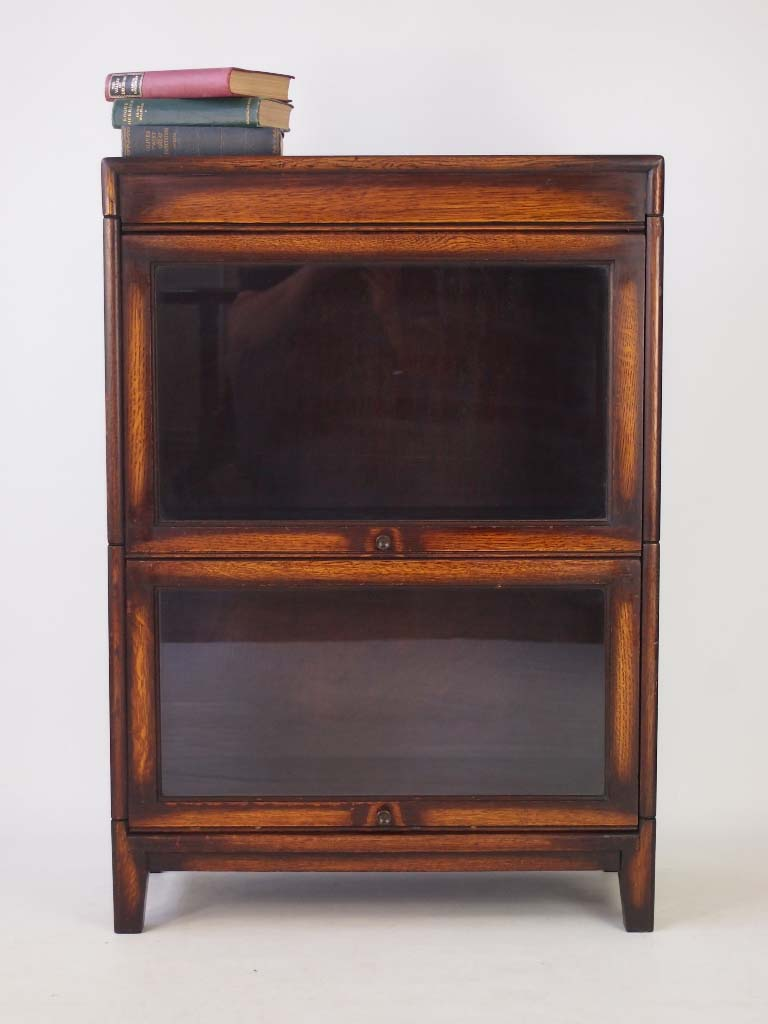 Small Vintage Oak Stacking Bookcase
