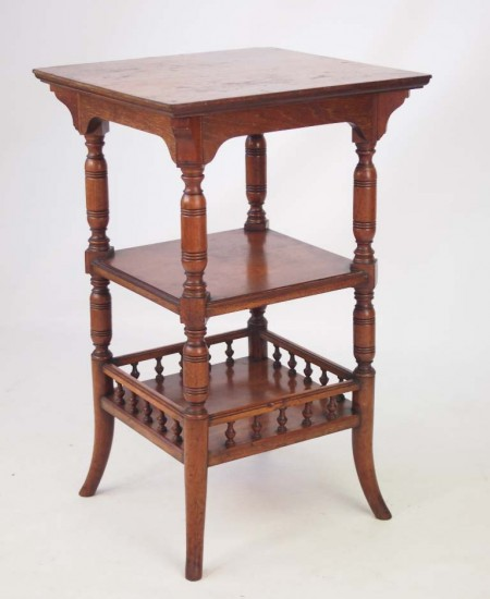 Small Antique Arts & Crafts Side Table