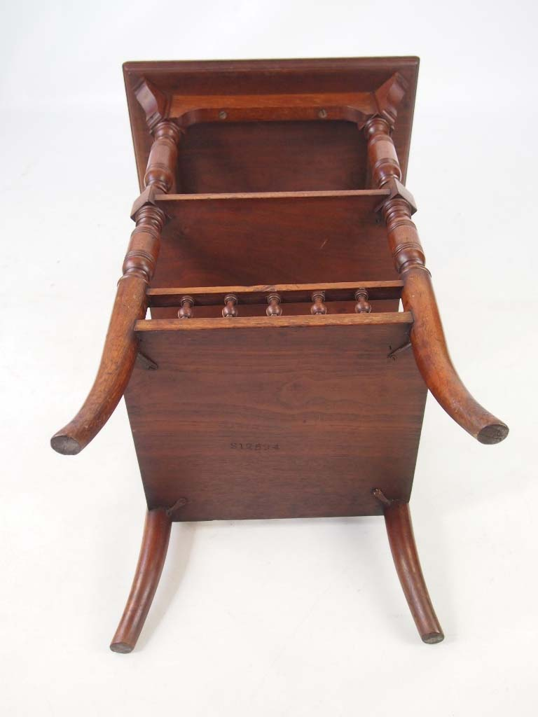 Antique arts crafts walnut coffee table for Furniture direct