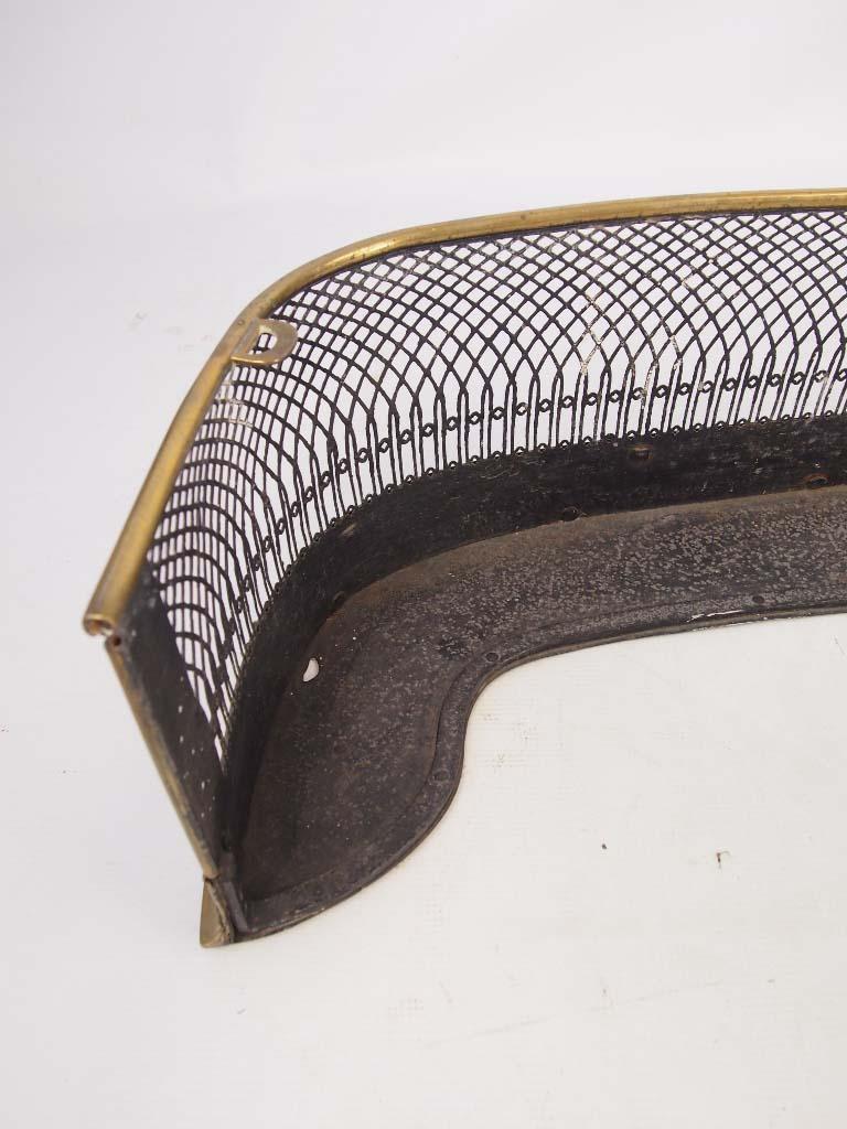 Antique Fire Fenders : Antique regency pierced brass fire fender