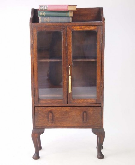 Small Vintage Oak Bookcase