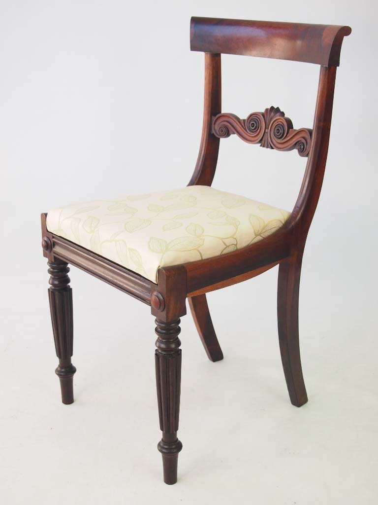 Set 4 antique william iv rosewood dining chairs for Dining chairs 4 set