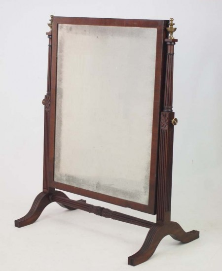 Large Antique Regency Swing Mirror
