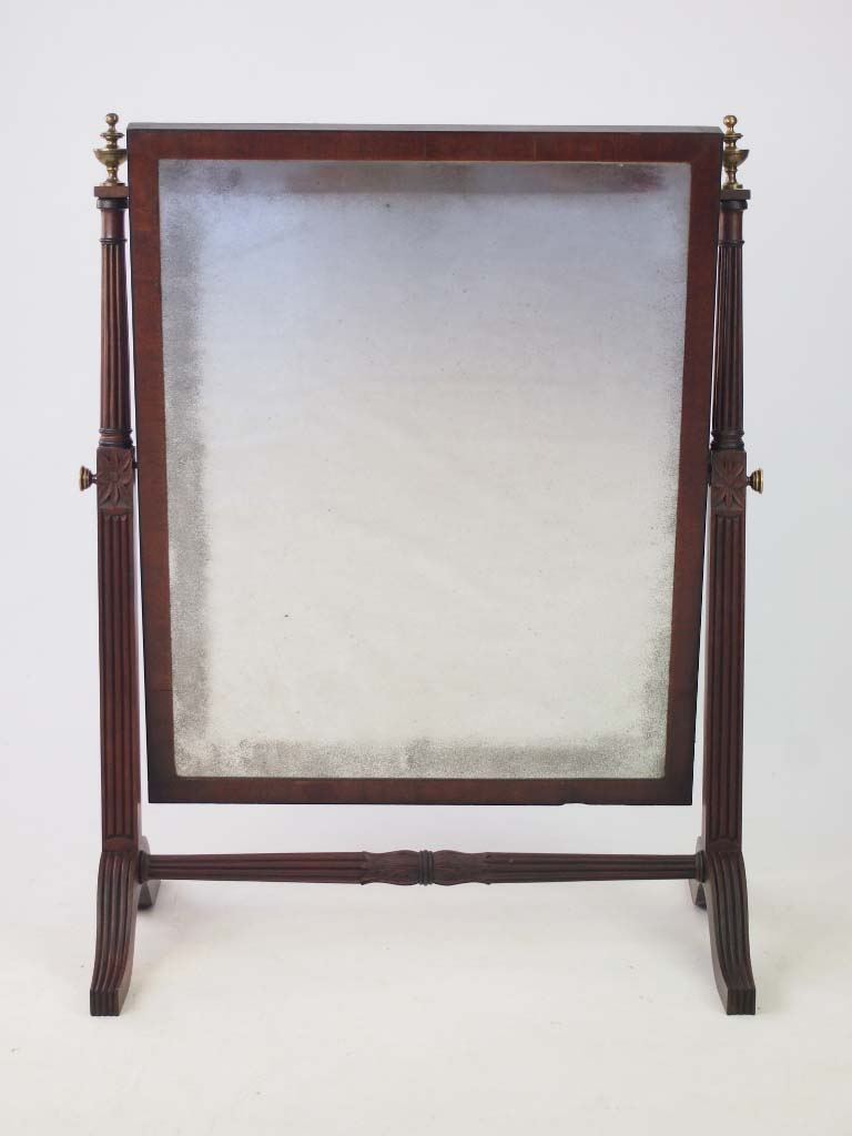 Large antique regency swing mirror vanity mirror for Large vanity mirror