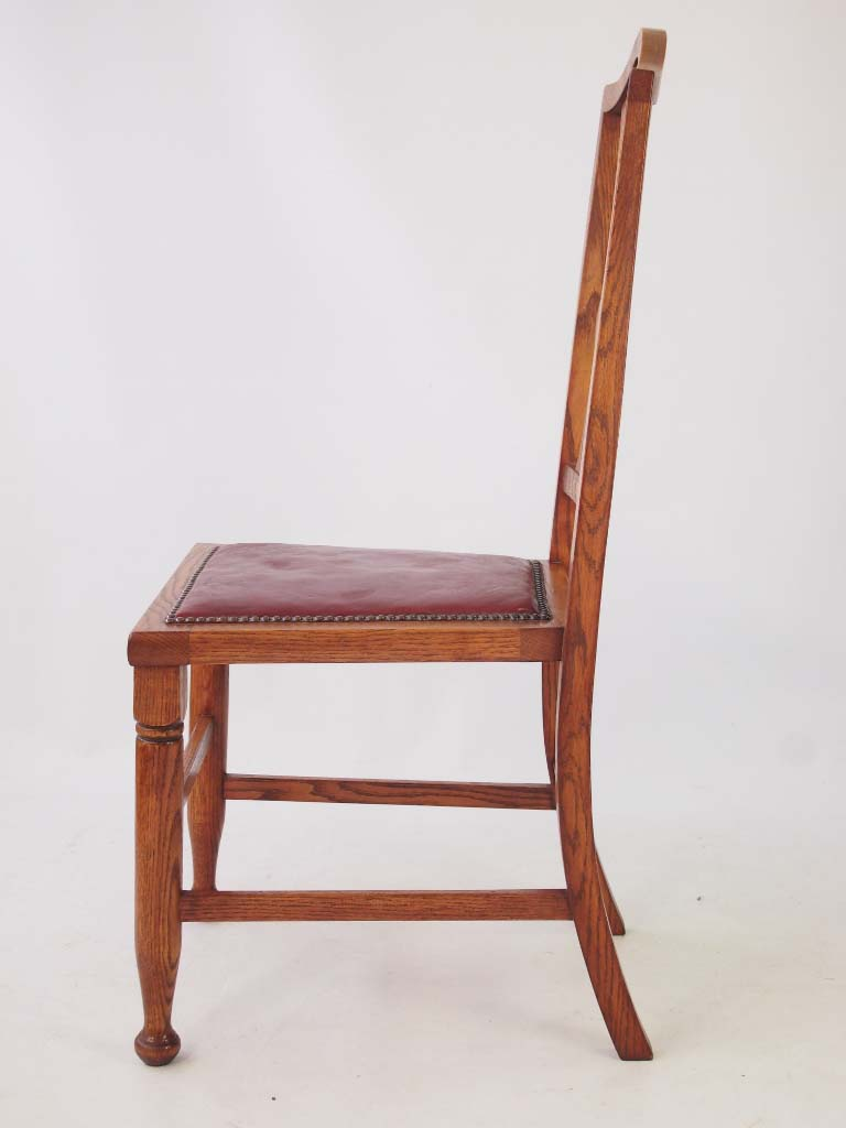 Set 4 Antique Arts Amp Crafts Oak Dining Chairs
