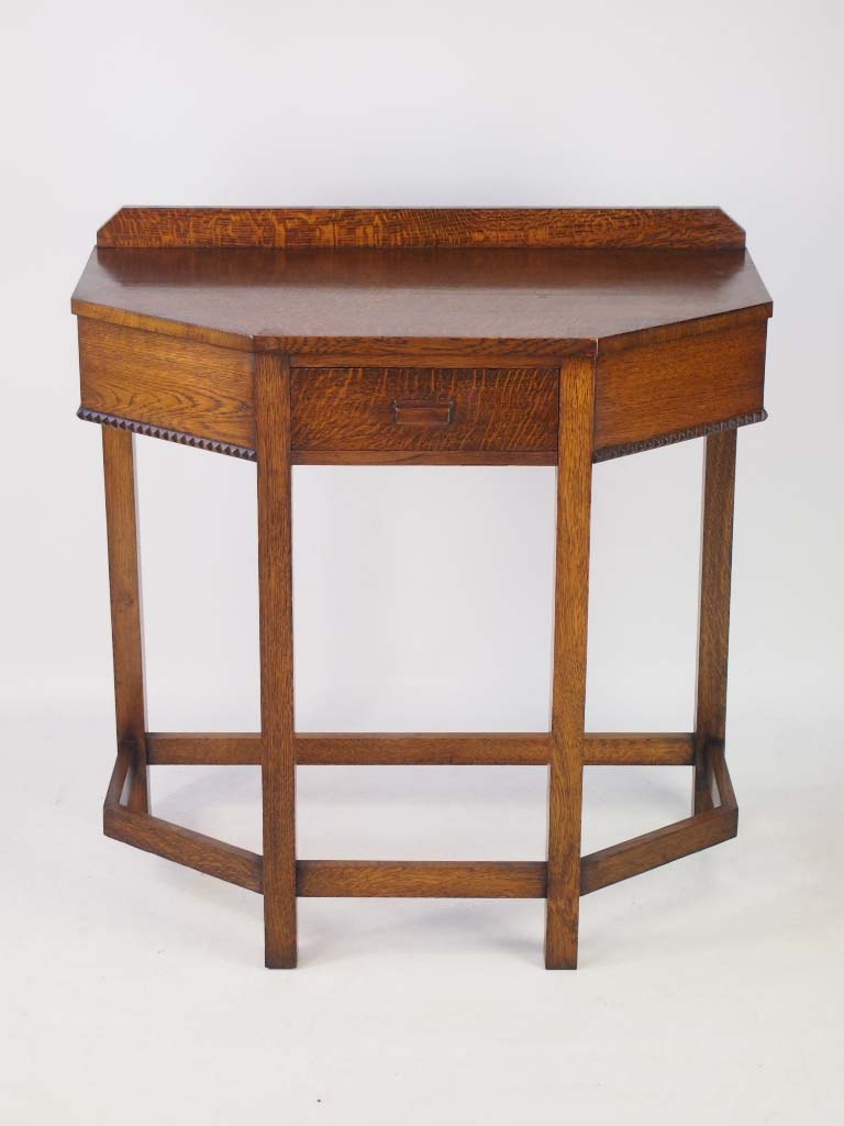 Art Deco Foyer Table : Vintage art deco oak hall table