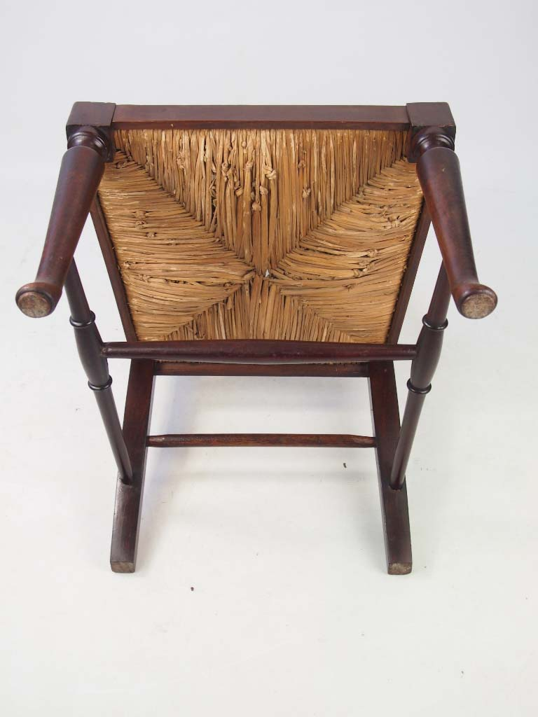 Antique Arts And Crafts Mahogany Bedroom Chair