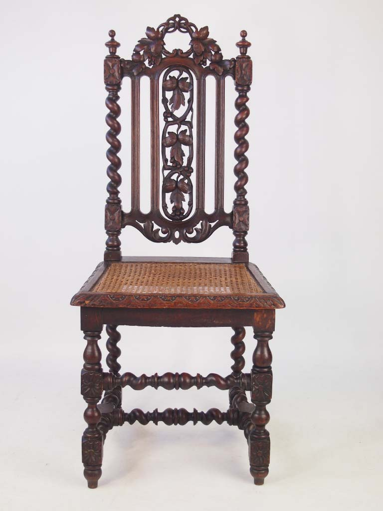 Antique Oak Chairs ~ Set antique victorian gothic oak chairs