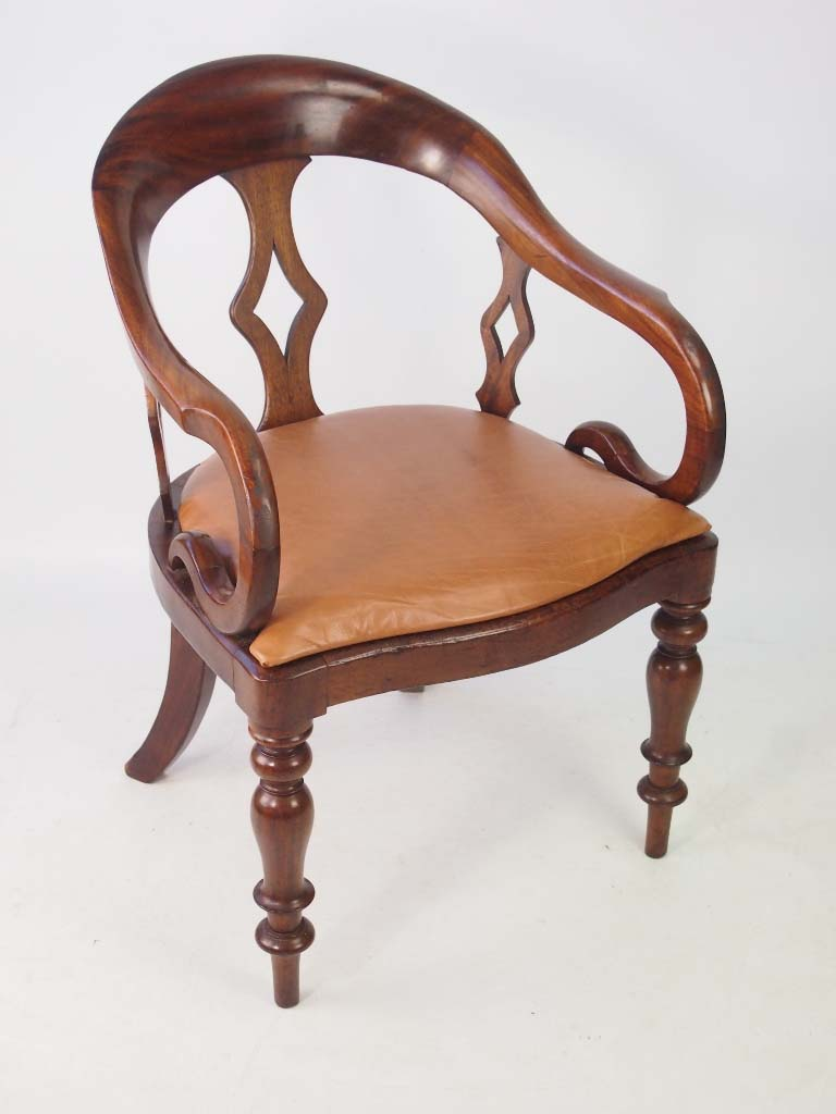 antique victorian mahogany desk chair
