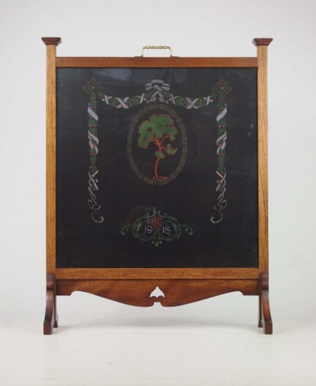 Arts and Crafts Fire Screen Dated 1918