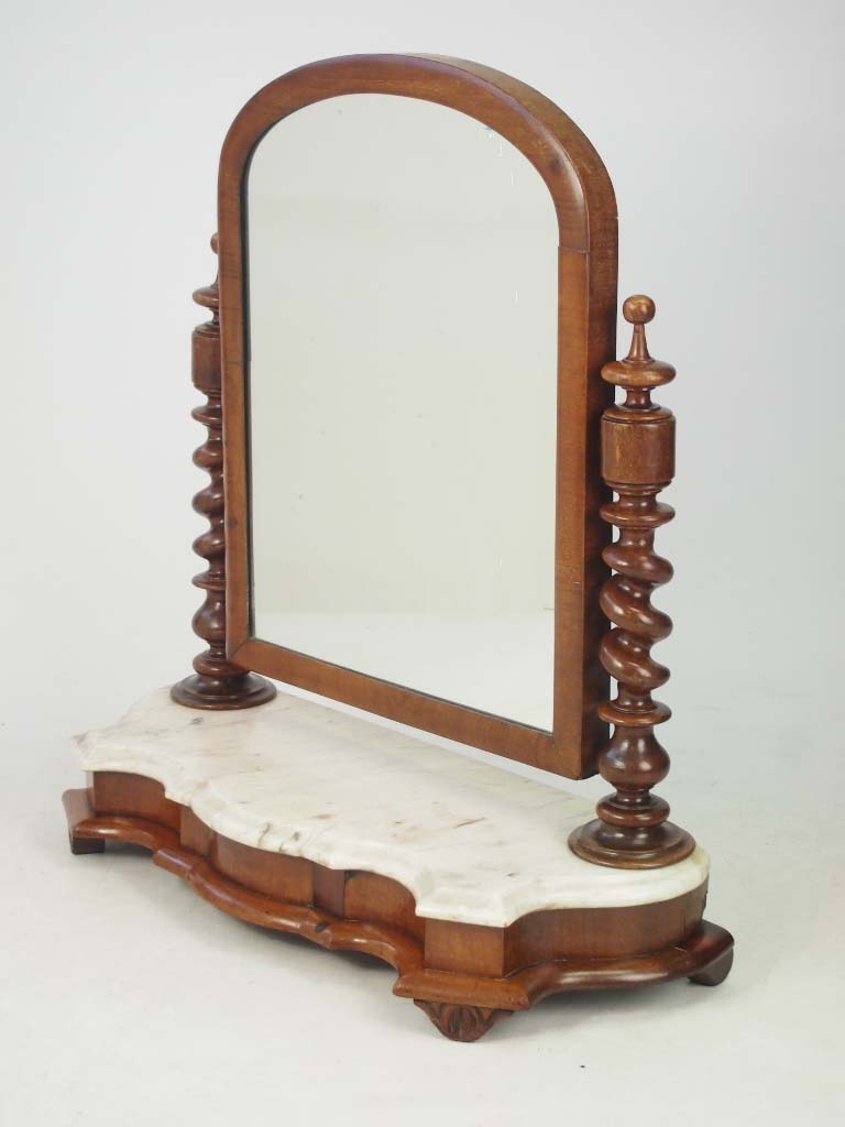 Victorian dressing table mirror with marble base for Vanity dressing table with mirror