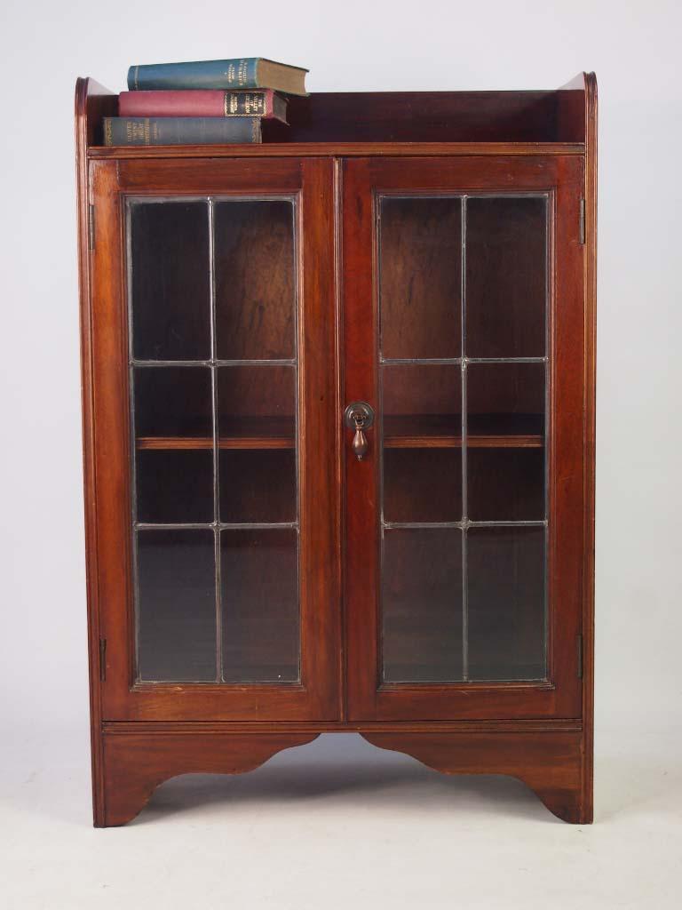 Old Bookcase Uk : Small antique edwardian mahogany bookcase