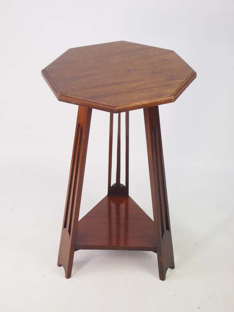 Small edwardian arts crafts mahogany lamp table for Furniture direct