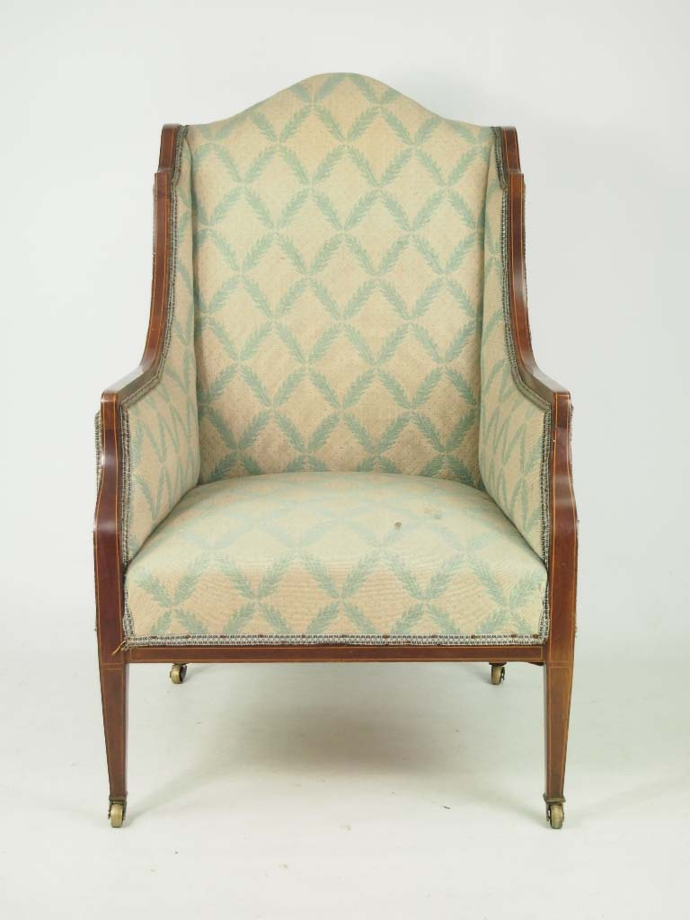 vintage recliner chair antique edwardian armchair for recovering reupholstery 3252
