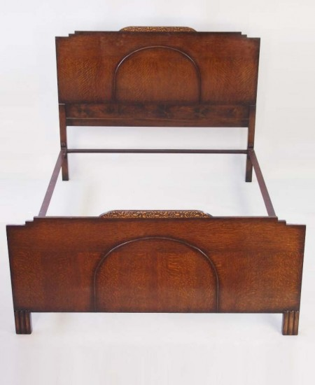 Art Deco Oak Double Bed