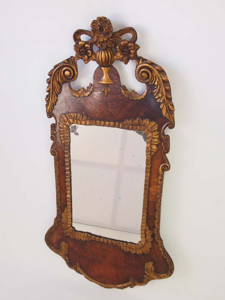 Large antique victorian mirror in george ii style for Victorian mirror