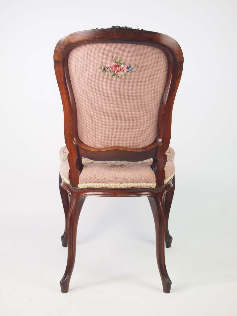 Superb Pair 19th Century French Rosewood Chairs In Louis