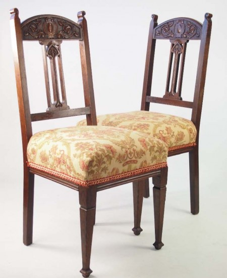 Pair Arts Crafts Chairs