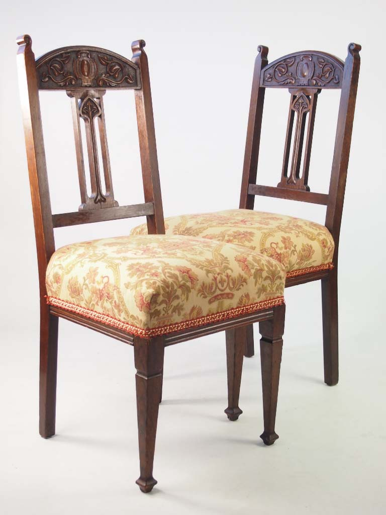 Arts and crafts chairs - Pair Arts Crafts Chairs