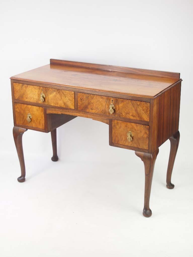 small deco walnut desk
