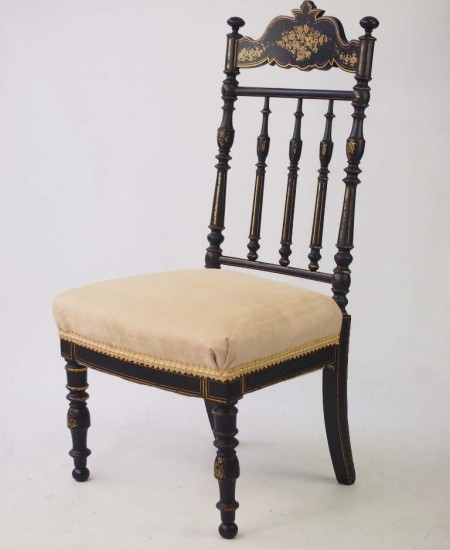 Victorian Japanned Side Chair