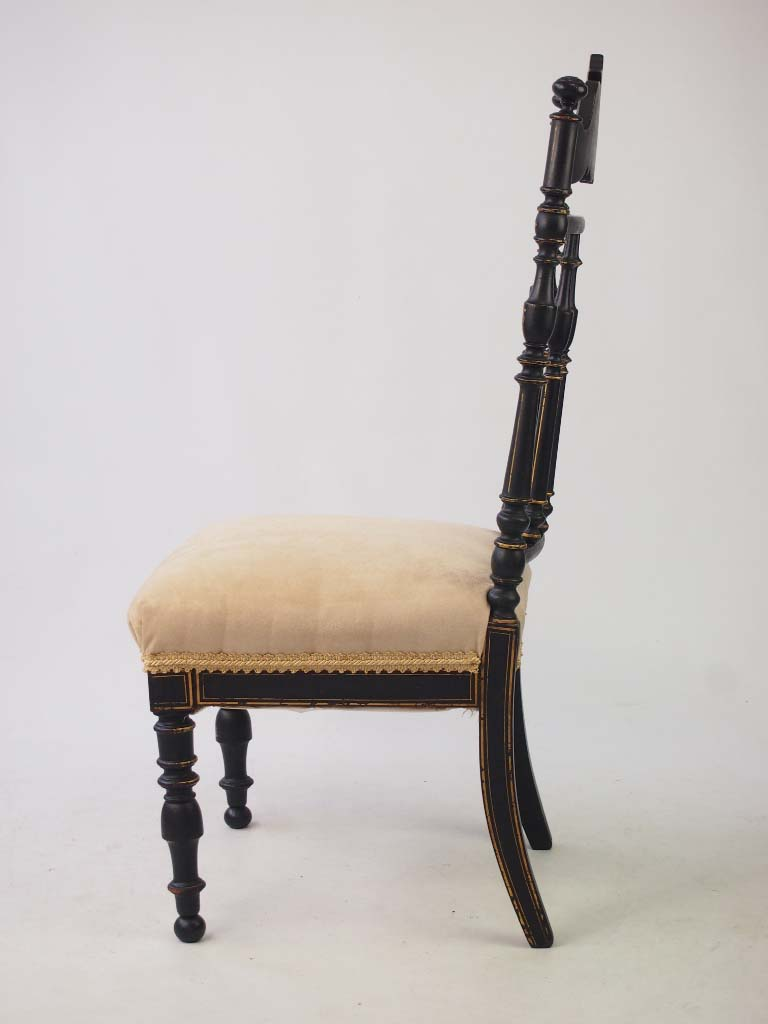 Victorian Japanned Side Chair Dressing Table Chair