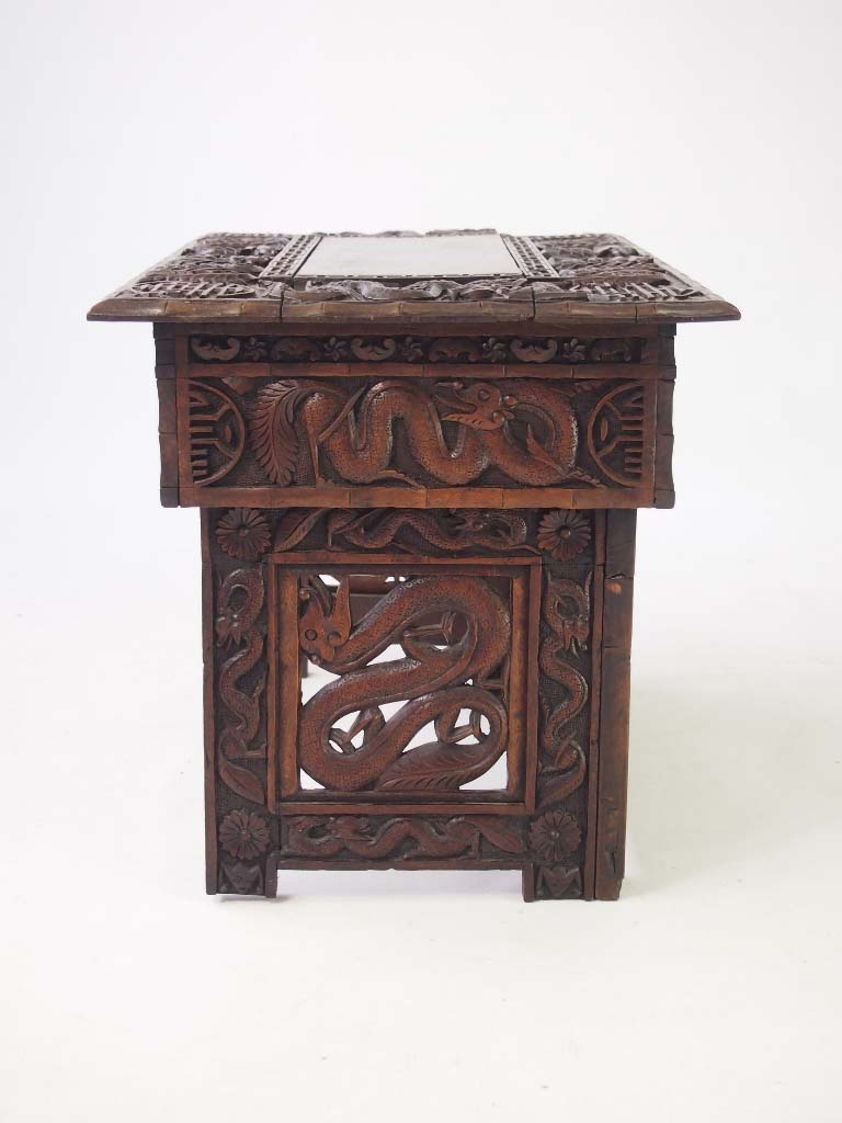 Small carved chinese table coffee