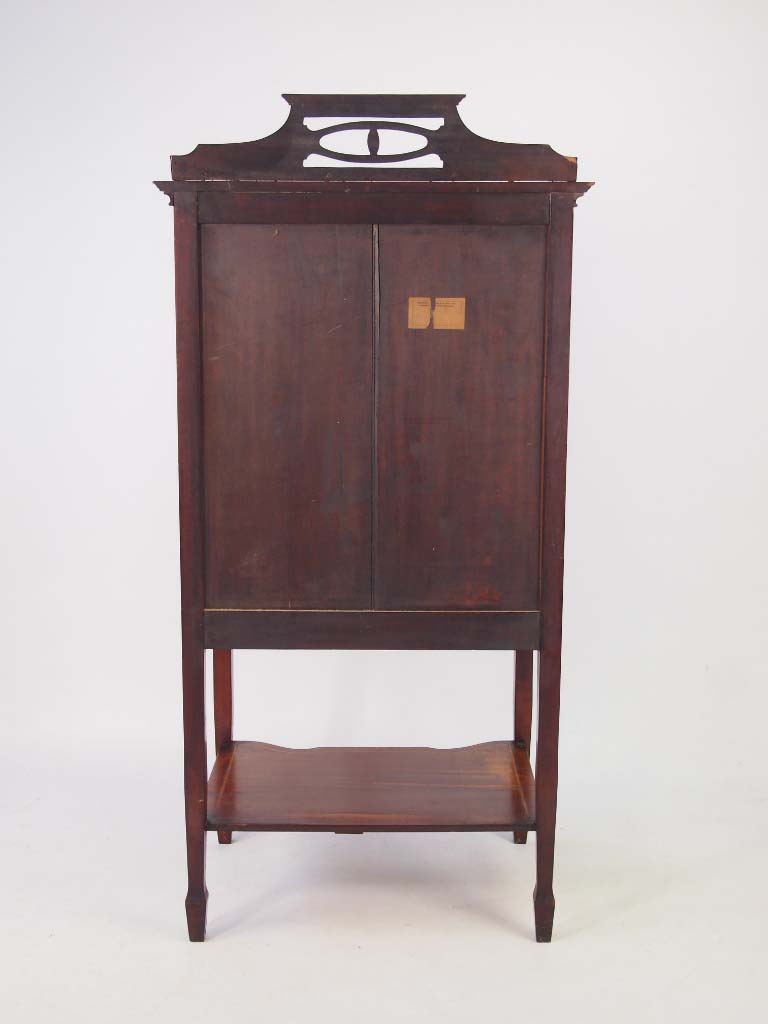 Antique Edwardian Mahogany & Inlaid Music Cabinet