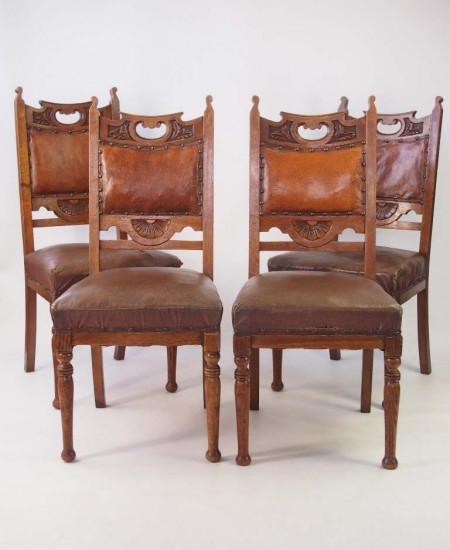 Set 4 Arts Crafts Chairs
