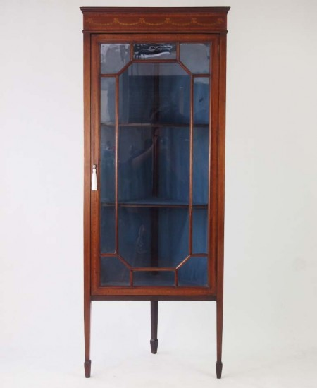 Antique Edwardian Standing Corner Cupboard