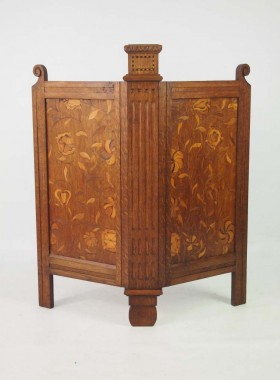 Arts and Crafts Oak Firescreen