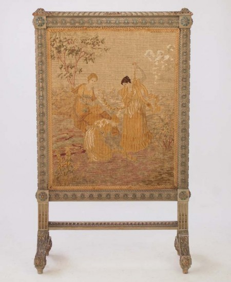 Antique Fire Screen Louis XVI Style