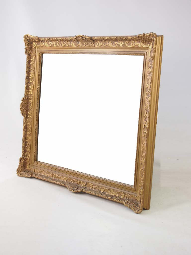 Large vintage gilt framed mirror for Big framed mirror
