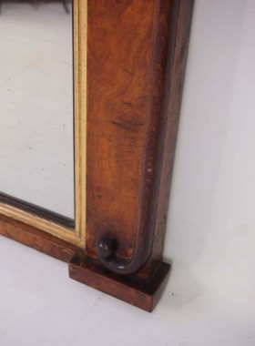 Victorian Walnut Overmantel Mirror