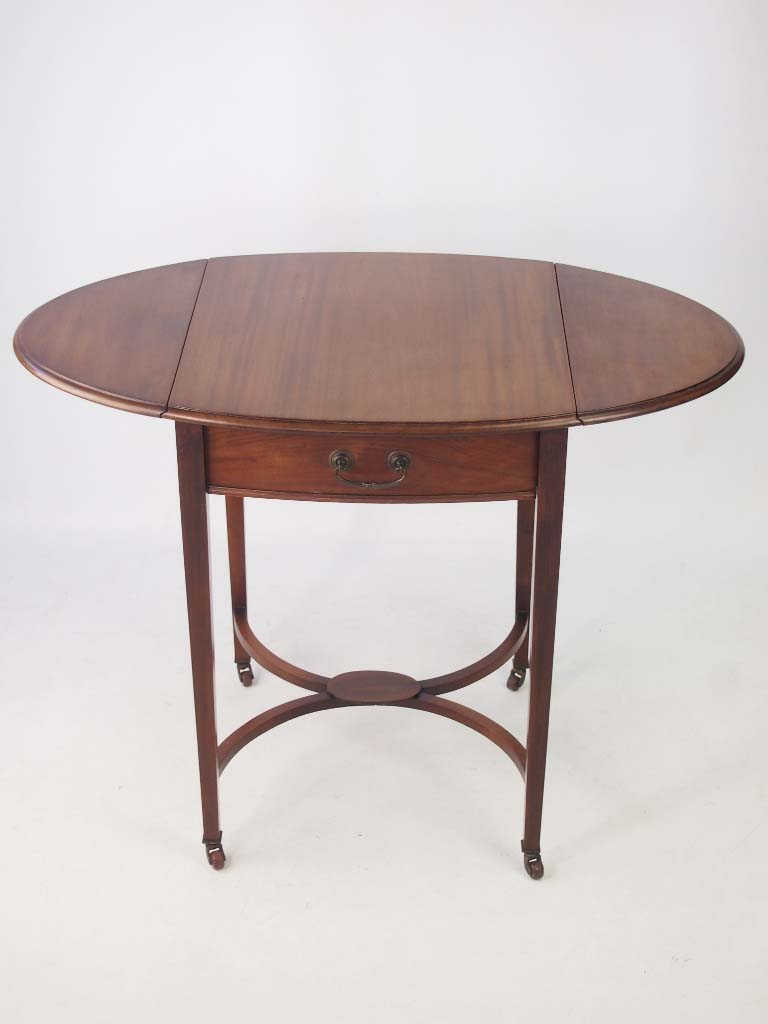 Small Edwardian Mahogany Drop Leaf Side Table