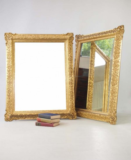 Large Pair Gilt Mirrors