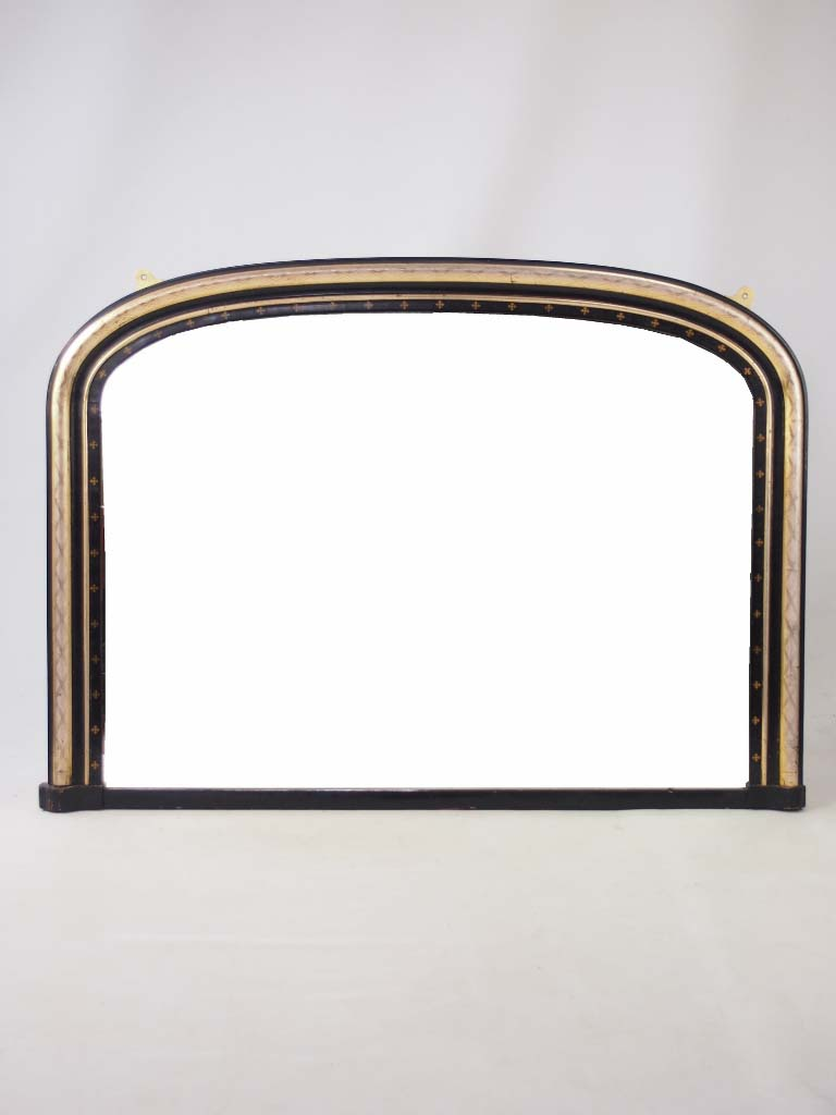 Large antique victorian overmantle mirror for Overmantle mirror
