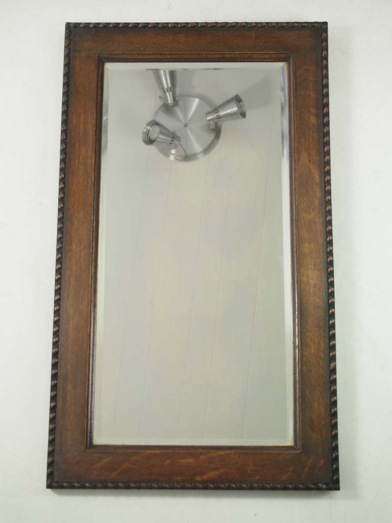 3 vintage oak mahogany framed wall mirrors for Antique wall mirrors