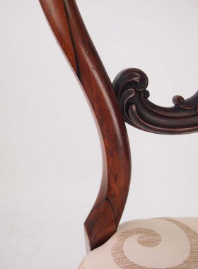 Set 4 Victorian Rosewood Balloon Back Chairs
