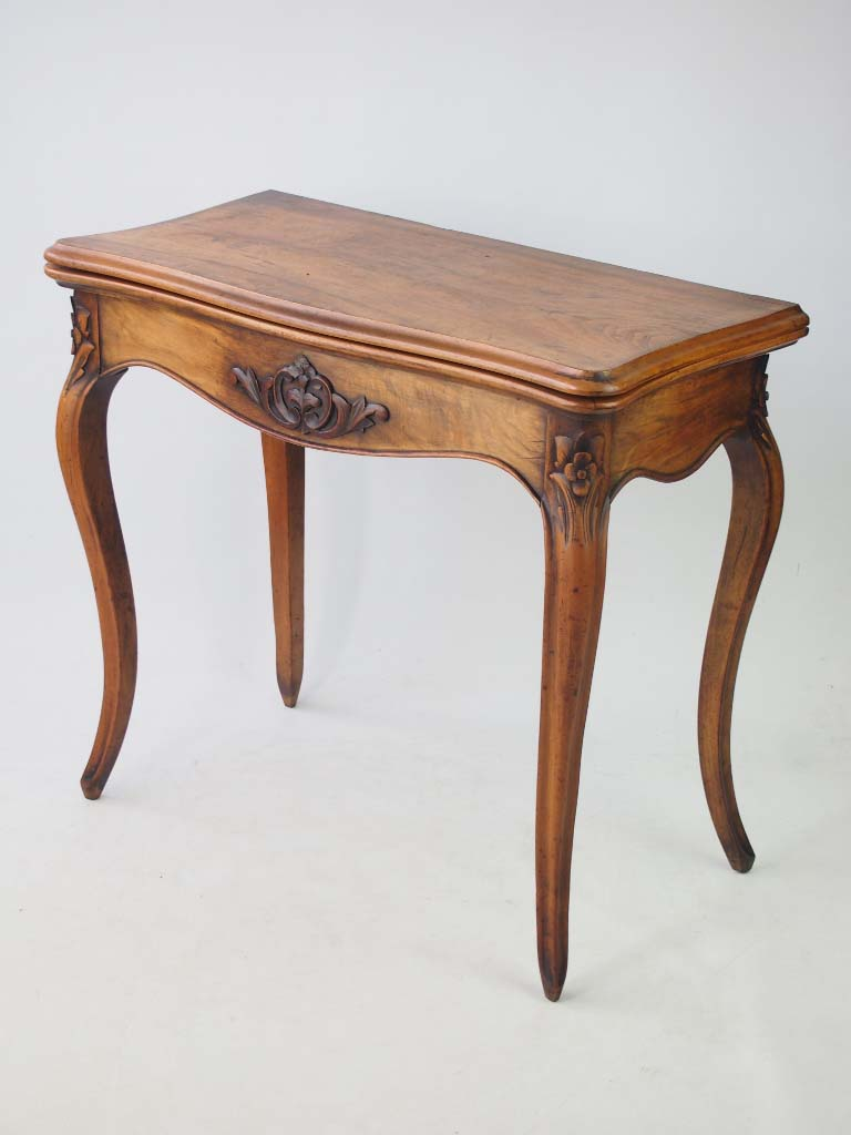 Antique 19th century french walnut card table hall table for Furniture direct