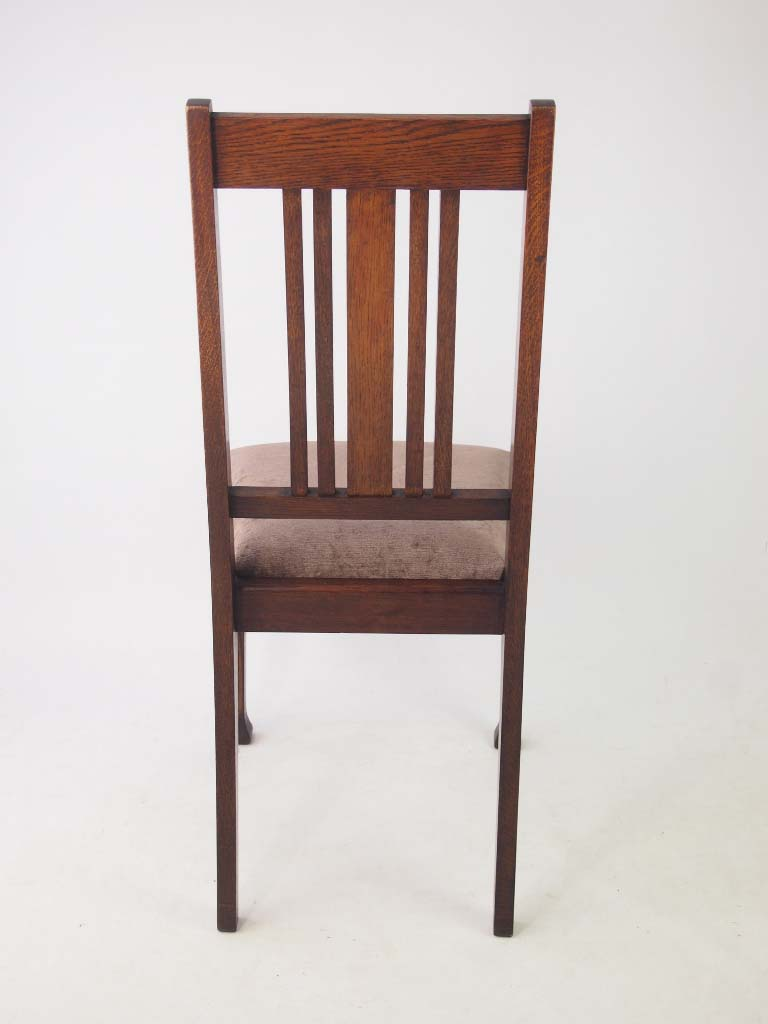 Set 4 edwardian oak dining chairs for Oak dining chairs