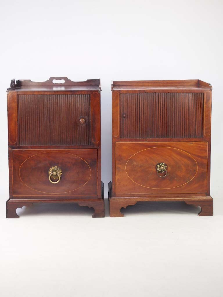 vintage furniture near me pair antique georgian bedside cabinets 6801