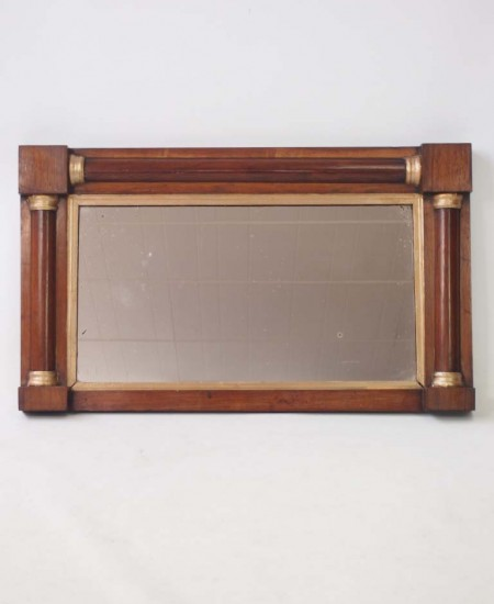 Regency Rosewood Overmantle Mirror