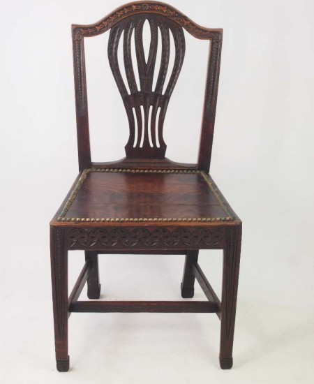 19th Century Carved Oak Chair