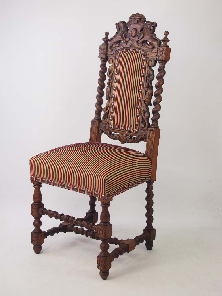 Antique victorian oak gothic revival chair for Victorian gothic chair