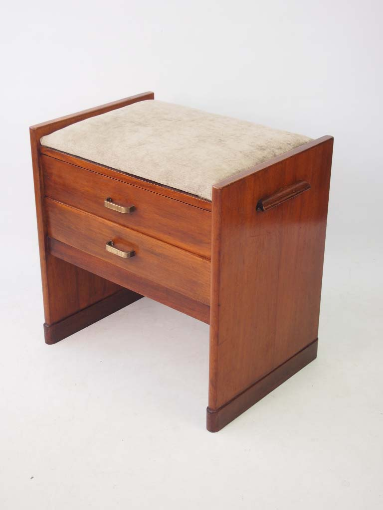 Art deco piano stool with drawers for Furniture direct