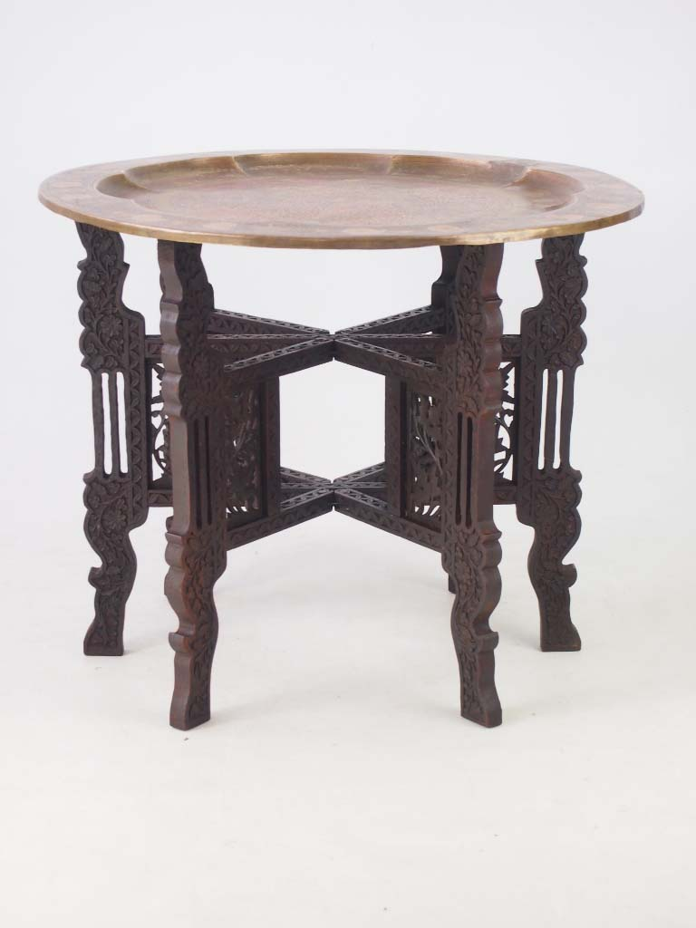 benares brass tray table coffee table. Black Bedroom Furniture Sets. Home Design Ideas