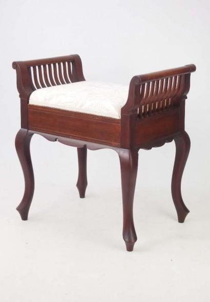 Antique Edwardian Mahogany Piano Stool