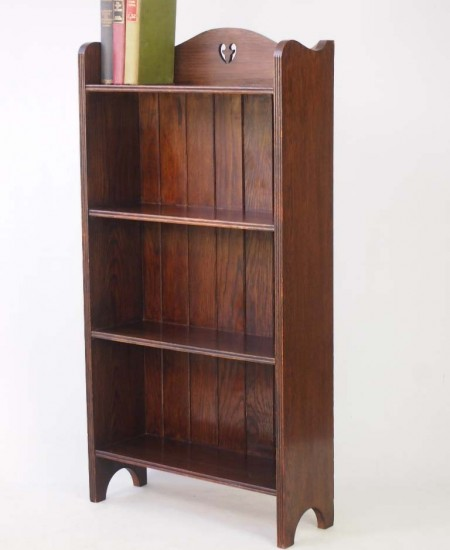 Arts and Crafts Oak Open Bookcase