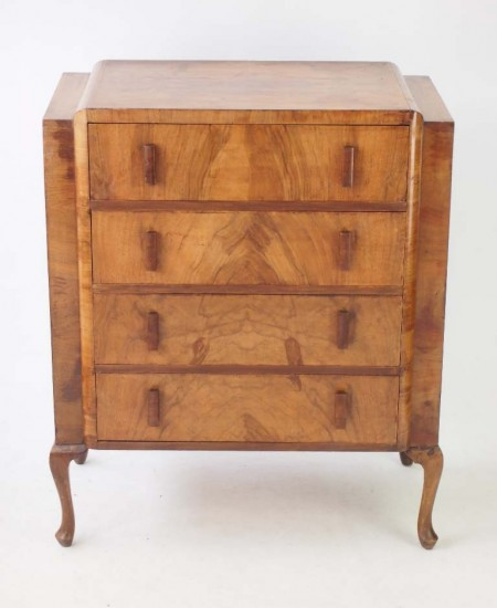 Art Deco Walnut Chest Drawers